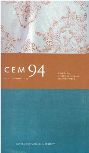 Book Cover: B094 Boletín nº 94 Julio-Diciembre del año 2015