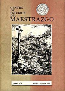 Book Cover: B001 Boletín nº 1 Enero-Marzo del año 1983