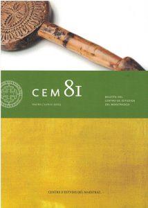 Book Cover: B081 Boletín nº 81  Enero - Junio del año 2009