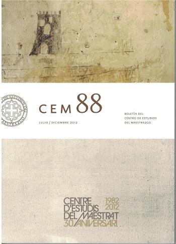 Book Cover: B088 Boletín nº 88 Julio - Diciembre del año 2012