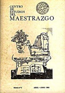 Book Cover: B002 Boletín nº 2 Abril-Junio del año 1983
