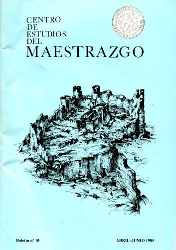 Book Cover: B010 Boletín nº 10 Abril-Junio del año 1985