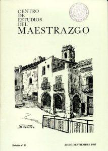 Book Cover: B011 Boletín nº 11 Julio-Septiembre del año 1985