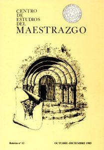 Book Cover: B012 Boletín nº 12 Octubre-Diciembre del año 1985