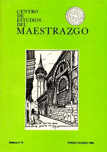 Book Cover: B013 Boletín nº 13 Enero-Marzo  del año 1986