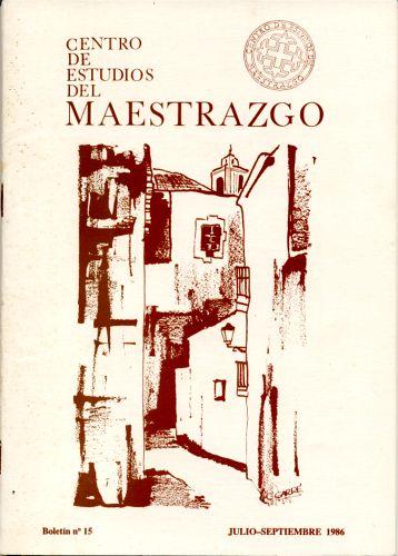 Book Cover: B015 Boletín nº 15 Julio-Septiembre del año 1986