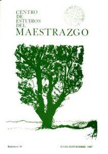 Book Cover: B019 Boletín nº 19 Julio-Septiembre del año 1987