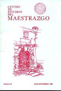 Book Cover: B023 Boletín nº 23 Julio-Septiembre del año 1988