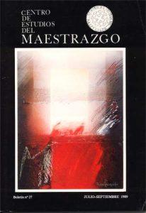 Book Cover: B027 Boletín nº 27 Julio-Septiembre del año 1989