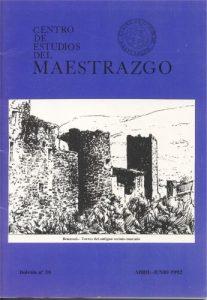 Book Cover: B038 Boletín nº 38 Abril-Junio del año 1992