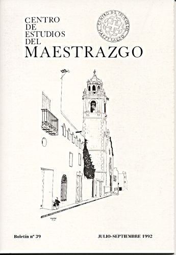 Book Cover: B039 Boletín nº 39 Julio-Septiembre del año 1992