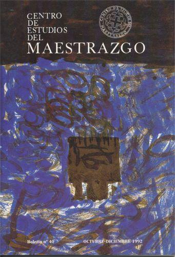 Book Cover: B040 Boletín nº 40 Octubre-Diciembre del año 1992