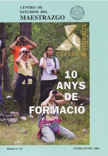 Book Cover: B065 Boletín nº 65 Enero - Junio del año 2001