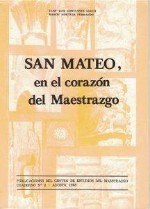 Book Cover: C002 San Mateo, en el corazón del Maestrazgo