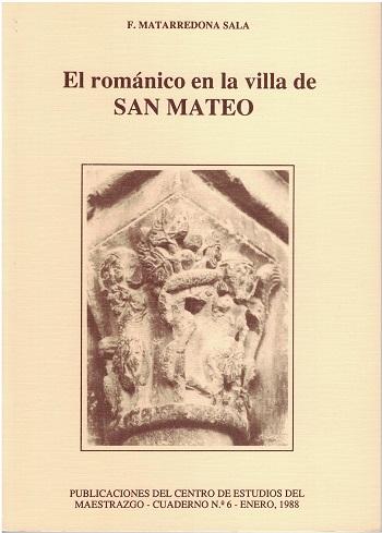 Book Cover: C006 El Románico en la Villa de San Mateo
