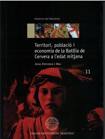 Book Cover: H011 Territori, població i economia de la Batllia de Cervera a l'edat mitjana