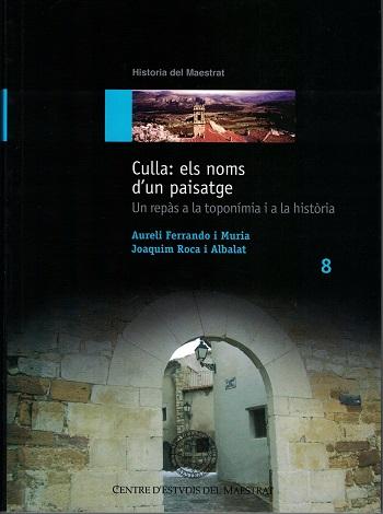 Book Cover: H008 Culla: els noms d'un paisatge