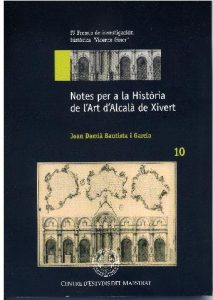 Book Cover: H010 Notes per a la Història de l'Art d'Alcalà de Xivert