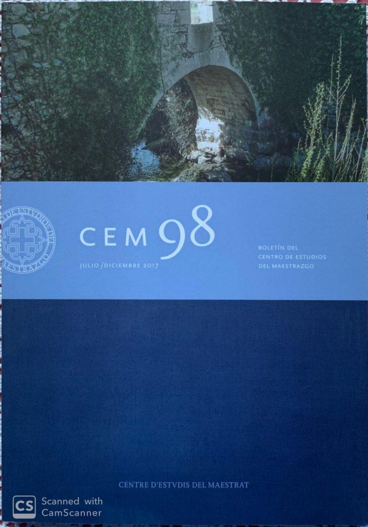 Book Cover: B098 Boletín nº 98 Julio-Diciembre del año 2017